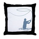 Flycasting Throw Pillow