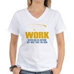 Why Try Working Women's V-Neck T-Shirt
