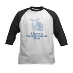Reel-tirement Plan Kids Baseball Jersey