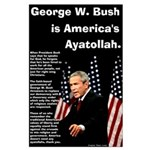 Bush Ayatollah Large Poster