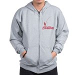 I Wish I Was Fishing Zip Hoodie