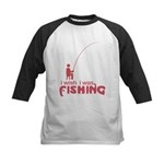 I Wish I Was Fishing Kids Baseball Jersey
