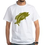 Largemouth Bass White T-Shirt