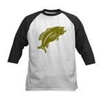 Largemouth Bass Kids Baseball Jersey