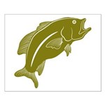 Largemouth Bass Small Poster