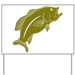 Largemouth Bass Yard Sign