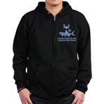 Somedays You're The Cat Zip Hoodie (dark)