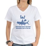 Somedays You're The Cat Women's V-Neck T-Shirt