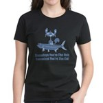 Somedays You're The Cat Women's Dark T-Shirt