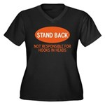 Stand Back Women's Plus Size V-Neck Dark T-Shirt