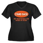 Stand Back Women's Plus Size V-Neck Dark T-Shirt