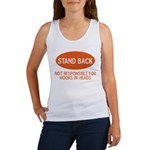 Stand Back Women's Tank Top