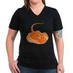 Stingray Women's V-Neck Dark T-Shirt