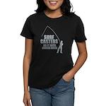 Surfcasters Longer Rods Women's Dark T-Shirt