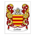 Leitao Family Crest Small Poster