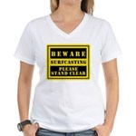 Beware : Surfcasting Women's V-Neck T-Shirt