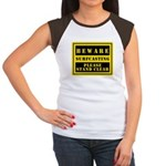Beware : Surfcasting Women's Cap Sleeve T-Shirt