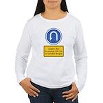 U-Turn Fishing Hook Women's Long Sleeve T-Shirt