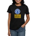 U-Turn Fishing Hook Women's Dark T-Shirt
