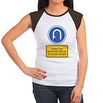 U-Turn Fishing Hook Women's Cap Sleeve T-Shirt