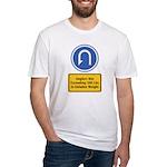 U-Turn Fishing Hook Fitted T-Shirt