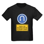 U-Turn Fishing Hook Kids Dark T-Shirt