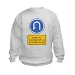 U-Turn Fishing Hook Kids Sweatshirt