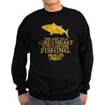 The Way To A Girl's Heart Sweatshirt (dark)