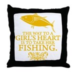 The Way To A Girl's Heart Throw Pillow