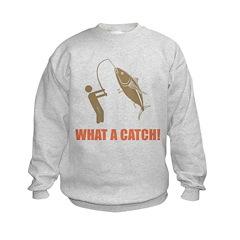 What A Catch! Kids Sweatshirt