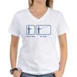 Your Rod / My Rod Women's V-Neck T-Shirt