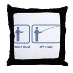 Your Rod / My Rod Throw Pillow