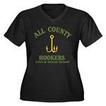 All County Hookers Women's Plus Size V-Neck Dark T