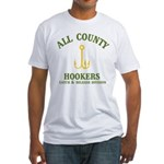 All County Hookers Fitted T-Shirt