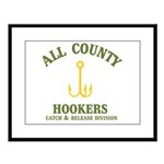 All County Hookers Large Framed Print