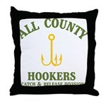 All County Hookers Throw Pillow