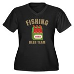 Fishing Beer Team Women's Plus Size V-Neck Dark T-