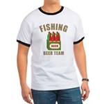 Fishing Beer Team Ringer T