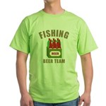Fishing Beer Team Green T-Shirt