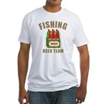 Fishing Beer Team Fitted T-Shirt