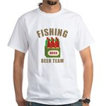 Fishing Beer Team White T-Shirt