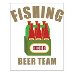 Fishing Beer Team Small Poster