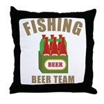 Fishing Beer Team Throw Pillow