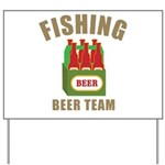 Fishing Beer Team Yard Sign