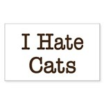 I Hate Cats Rectangle Sticker 10 pk)