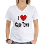 I Love Cape Town (Front) Women's V-Neck T-Shirt