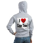 I Love Cape Town (Back) Women's Zip Hoodie