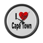 I Love Cape Town Large Wall Clock
