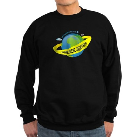 Planet Earth Crime Scene Sweatshirt (dark)