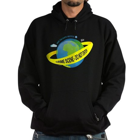 Planet Earth Crime Scene Hoodie (dark)
